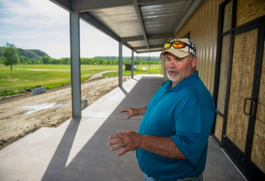Marias Valley Golf Course SuperintendentScott Lennemann stands on the outside patio area of the new clubhouse as he talks about the major renovation work the course has experienced recently.