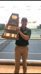 Mitch Gross has been named the 2019 All-Iowa boys' tennis coach of the year.