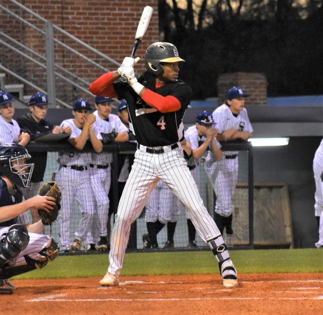 Loyd Star's James Beard awaits a pitch during a game in the 2018 season. Beard was selected by the Chicago White Sox in the fourth round of the 2019 MLB Draft.