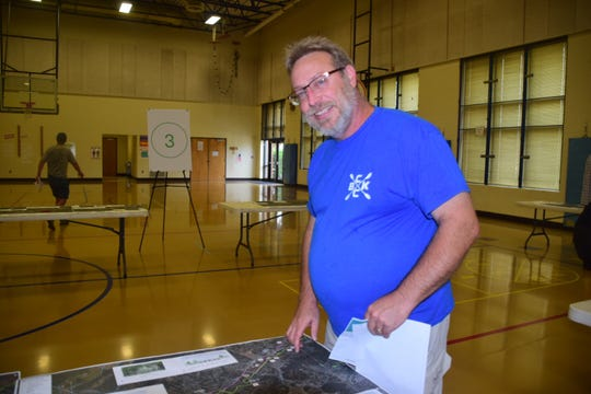 Mark Graham with Beaver Creek Kayak Club said he'd like to see the greenway go along Beaver Creek and connect to parks to improve kayaking along Beaver Creek. The greenway discussion meeting was held at Karns Elementary School onWednesday, June 5, 2019.