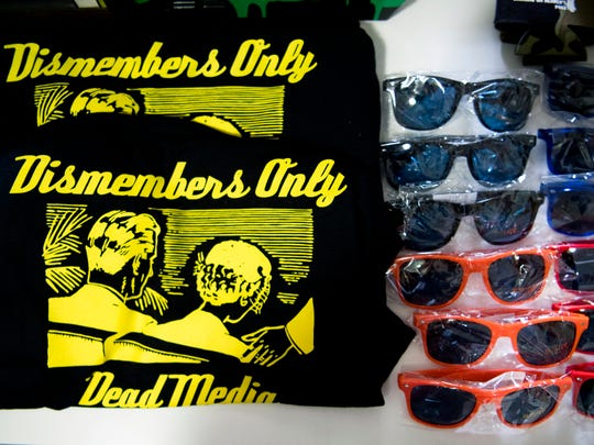 Promotional shirts and sunglasses for Dismembers Only, an apparel and accessories brand based on dead forms of media, such as VHS tapes. Michael Williamson created and placed clown dating service and time travel machine signs around Knoxville to promote the brand.