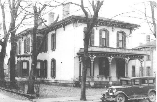 This undated photo (circa 1920s) shows the home of Edward H. Bininger at 138 W. Chestnut St. It stood on the south side of the street approximately where the new Fairfield County Records Center is located today.