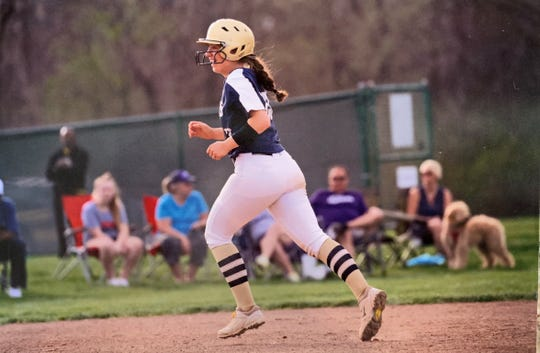 Lancaster sophomore Abbie Wilfing hit .570 this season with 10 home runs and 35 RBIs. She is the Eagle-Gazette Softball Player of the Year.