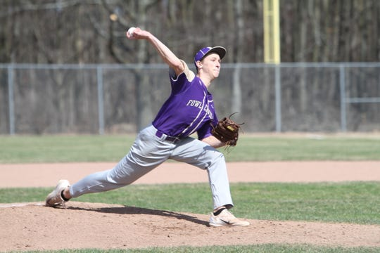 Caden Flanery pitched Fowlerville to a 2-1 victory over Tecumseh in a Division 2 regional semifinal baseball game on Wednesday.