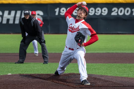 John Baker of Hartland was 7-2 this season for Ball State, leading the Mid-American Conference with a 2.13 ERA.
