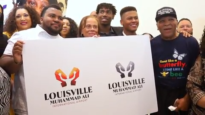 Lonnie Ali said she hopes visitors to Louisville Muhammad Ali International Airport  will feel as welcome as people who had met Muhammad Ali felt.