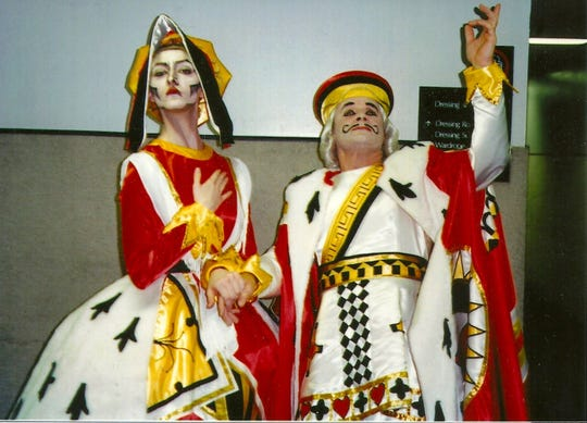 "Delilah Smyth and Alun Jones as the King and Queen of Hearts in 1998's ""Alice in Wonderland"" production at the Louisville Ballet."