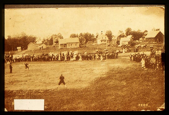 Early baseball in Manitowoc County at unknown location.