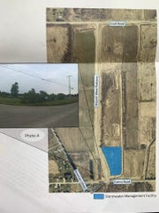 The stormwater management facility will be located in the southern portion of Airport West Industrial Park.
