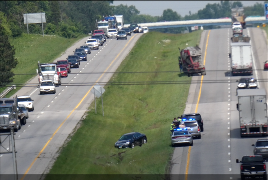 U.S. 30 eastbound traffic is snarled just east of the Fifth Avenue exit due to a crash.