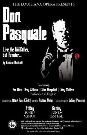 Louisiana Opera will present 'Don Pasquale' Friday and Sunday at ULM.