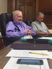 Ouachita Parish School Board member Red Sims attends a meeting on Tuesday, June 27, 2017.