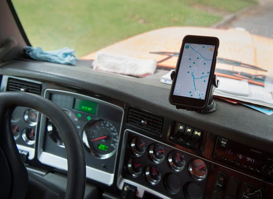 The sanitation departments new systems allows drivers to report updates and issues immediately in Montgomery, Ala., on Wednesday, June 5, 2019.