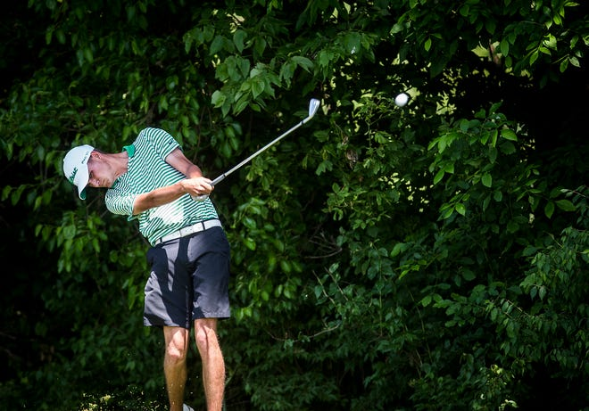 FILE -- Carson Orr shot 80 on Wednesday to help Yorktown to an 12th-place finish at the IHSAA state meet in Carmel.