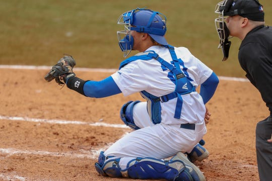 MTSU's Aaron Antonini led Conference USA with 24 runners caught stealing.