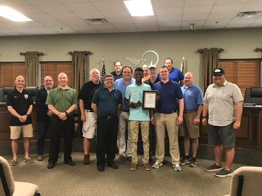 Jameson Wharton is pictured with the Hendersonville Parks Board.