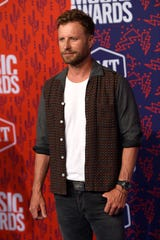 Dierks Bentley on the red carpet before the 2019 CMT Awards at Bridgestone Arena Wednesday, June 5, 2019, in Nashville, Tenn.