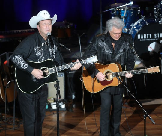 Troy Hess performs with Marty Stuart during Marty Stuart's Late Night Jam Wednesday, June 5, 2019 at the Ryman Auditorium.