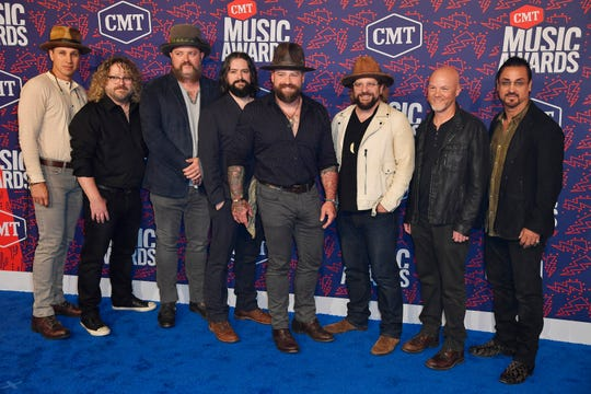 Zac Brown Band on the red carpet before the 2019 CMT Awards at Bridgestone Arena Wednesday, June 5, 2019, in Nashville, Tenn.