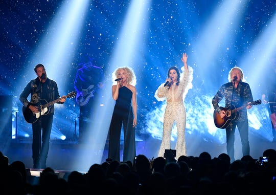 Little Big Town performs during the 2019 CMT Music Awards at Bridgestone Arena Wednesday, June 5, 2019, in Nashville, Tenn.