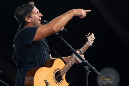 Billy Currington interacts with the crowd as he performs during the 2019 CMA Fest at Chevy Riverfront Stage in Nashville, Tenn., Thursday, June 6, 2019.