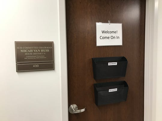Rep. Micah Van Huss's legislative office