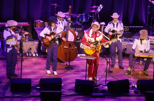 Chris Scruggs and the Stone Fox Five perform during Marty Stuart's Late Night Jam Wednesday, June 5, 2019 at the Ryman Auditorium.