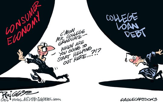 College loan debt commentary