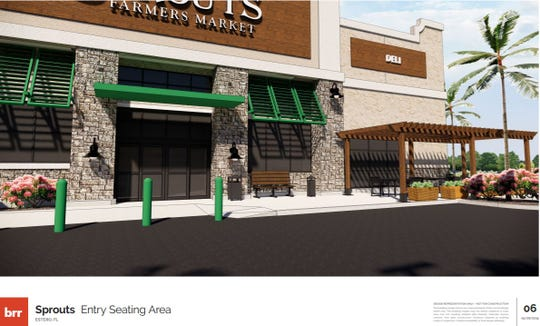 A rendering of a Sprouts Farmers Market store planned west of U.S. 41 and Estero Parkway in Estero.
