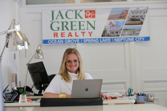 Jenifer Green Grigg, realtor, broker and manager of Jack Green Realty, talks about summer rentals at the office in Spring Lake, NJ Wednesday June 5, 2019.