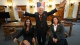 His daughters get inspiration to practice law from 96-year-old attorney Frank Lucianna.