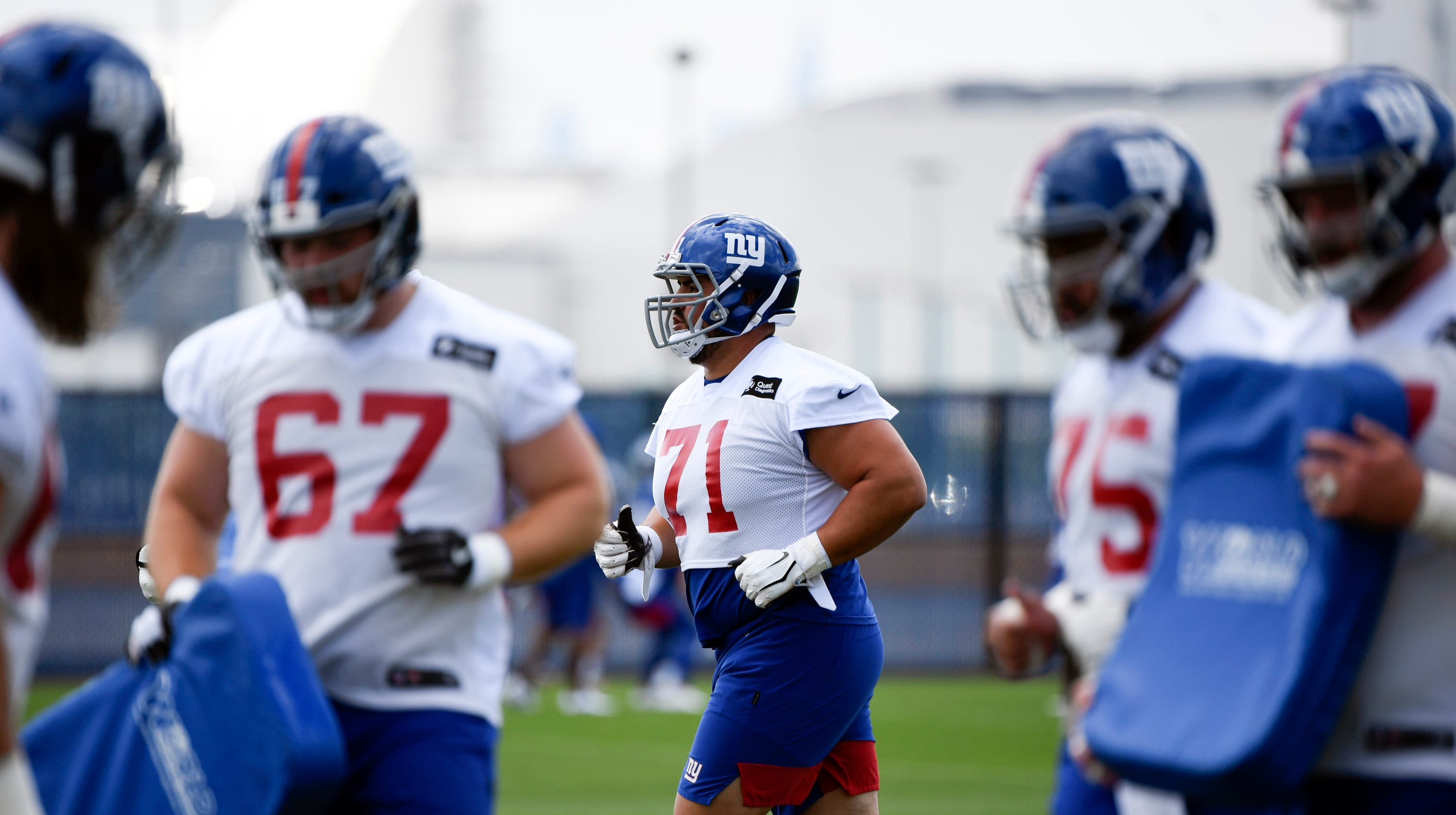 timeless design 48f1d 4011a NY Giants training camp preview: Complete offensive line ...