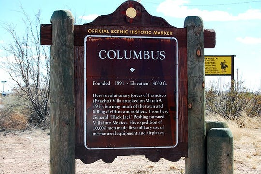 Entering the Village of Columbus, this historic marker greets visitors.