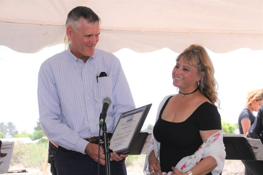 USDA Rural Development State Director Arthur A. Garcia presented the New Mexico National Homeownership Month HERO Award to Veronika Molina, the executive director of the Southwestern Regional Housing and Community Development Corporation (SRHCDC) in Deming,