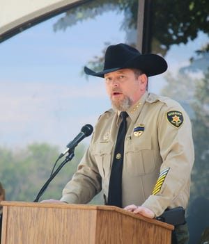 Eddy County Sheriff Mark Cage denies there was collusion between New Mexico sheriffs and the National Rifle Association on gun control legislation earlier this year in Santa Fe.
