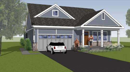 A rendering of what a home in the soon-to-be built Hawkthorne Oaks neighborhood could look like.