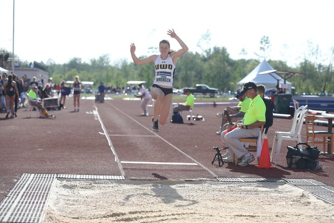 UW-Oshkosh senior Lauren Wrensch captured the long jump title in the NCAA III Outdoor Track and Field Championships with a school-record mark.
