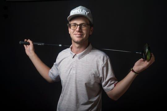 Chris Wardrup, Palm Desert boys golf photographed at the Desert Sun studios.