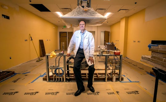 David Kilgore, MD, a clinical family medicine faculty member at University of California, Irvine, stands in the teaching kitchen, still under construction, at the UCI Health Family Health Center in Santa Ana on Tuesday, May 14, 2019, where classes will be held to help patients to learn to cook and eat healthy meals. (Photo by Mark Rightmire, Orange County Register/SCNG)
