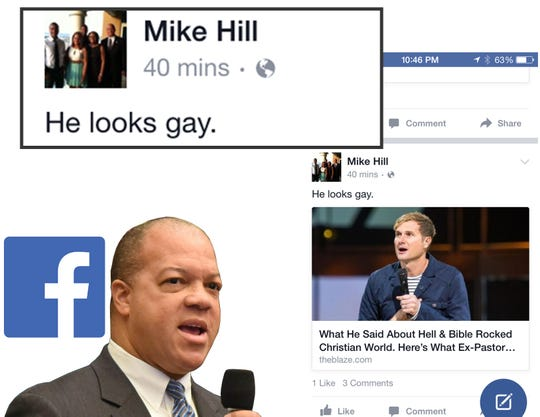 In response to an article about a young pastor who preaches acceptance of gay marriage, Hill offered this opinion.