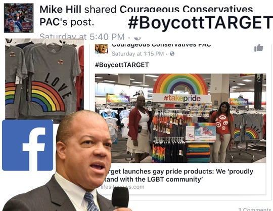 Despite many popular locations in Northwest Florida, Hill promoted a move to boycott Target stores over an article about the retailer's line of #takepride products.