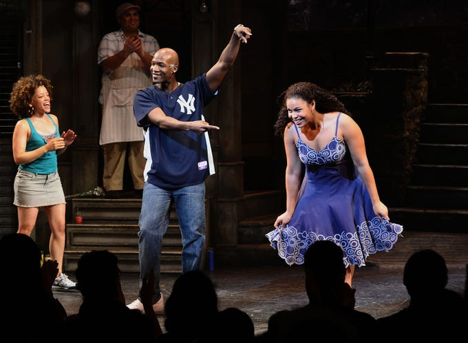 "Singer/actress Jordin Sparks makes her Broadway debut in ""In The Heights"" at the Richard Rodgers Theatre on Aug. 19, 2010."