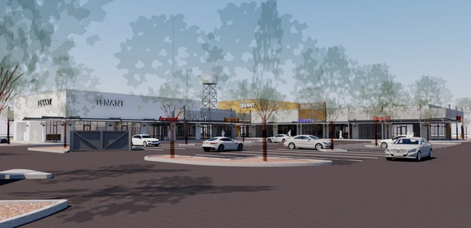 """A rendering of the upcoming south Chandler retail project, """"The Steelyard."""""""