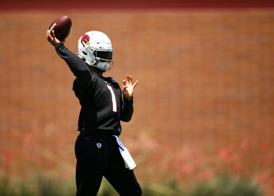 Arizona Cardinals quarterback Kyler Murray during OTAs (organized team activities) on June 5, 2019 in Tempe, Ariz.