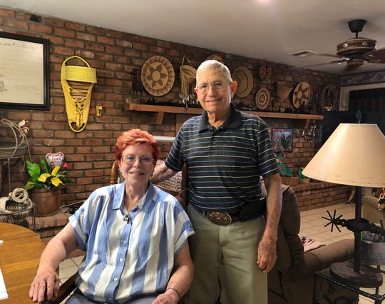 Jody and Art Arnold built their Buckeye home in 1964. Now, they fear Interstate 11 would pave right over it.