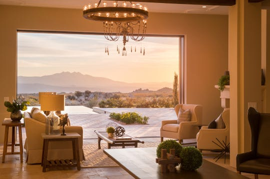 The $4 million north Scottsdale mansion, sold by Kittoe-LaBlonde Development LLC, features a retractable window wall that opens to unobstructed views of the surrounding desert.