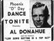 """Ad in June 7, 1944 issue of The Republic announces Al Donahue """"invasion"""" of Shrine Auditorium."""