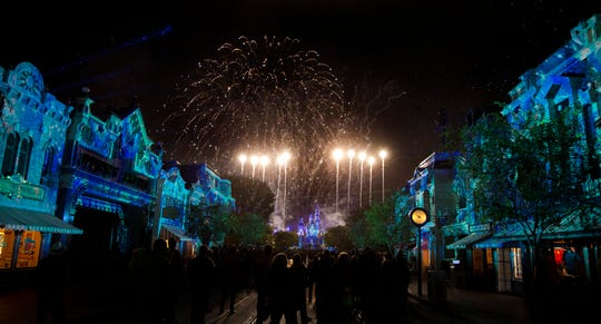 """Disneyland Forever"" fireworks spectacular at Disneyland Park fully immerses guests in Disney stories from street to sky."