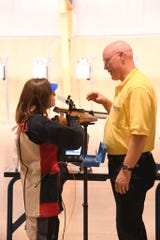 The air rifle portion of the camp is held on CMP's electronic air gun range at Camp Perry.