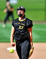 Delone Catholic's Maggie Rickrode was the York-Adams League Division IV Pitcher of the Year.